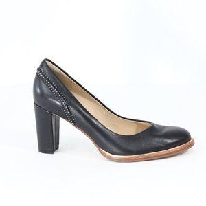 Clarks Pumps Women Black Leather Heel Comfort Shoe